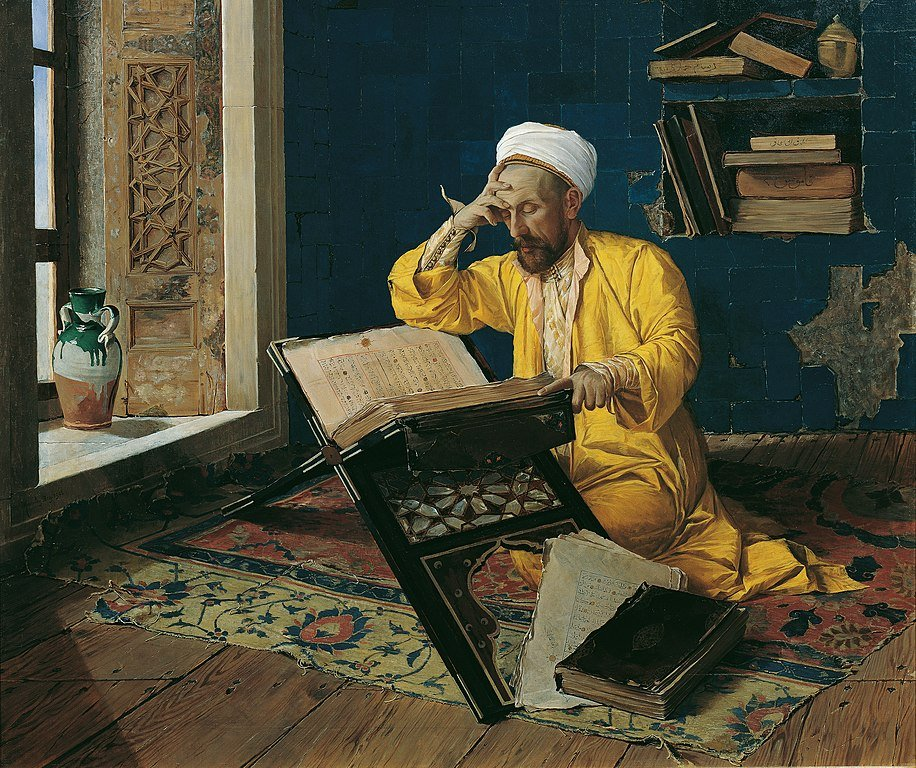 Painting by Osman Hamdi Bey. Released under a Creative Commons Licence.